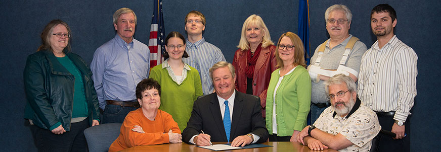 North Dakota governor signing proclamation for brain injury awareness